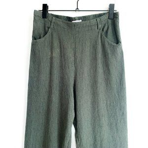 urban outfitters olive green linen pants w/pockets